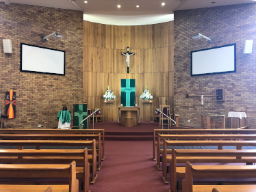 Picture of interior of new church