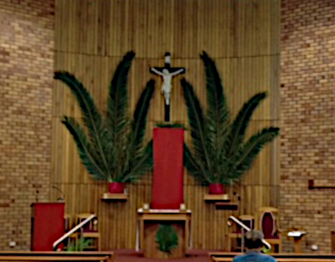 Church on Palm Sunday