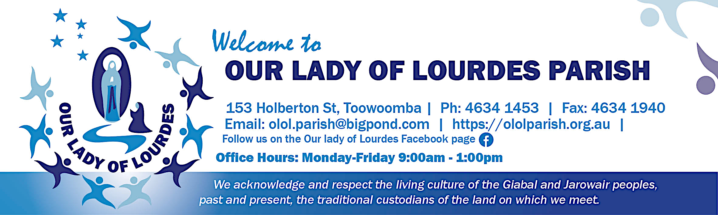 Our Lady of Lourdes Banner
